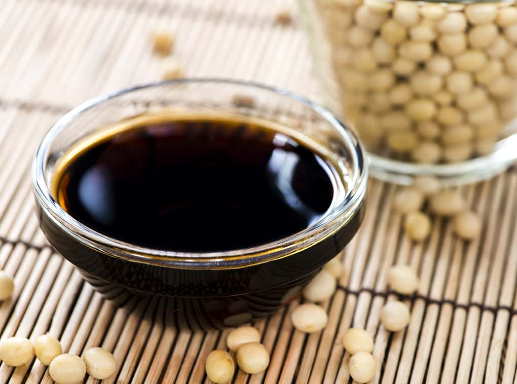 Portion of Soy Sauce in a small bowl