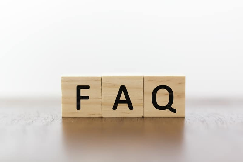 FAQ on wooden blocks