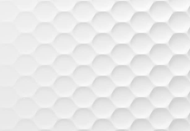 White geometric honeycomb hexagon background. 3d rendering, 3d illustration.